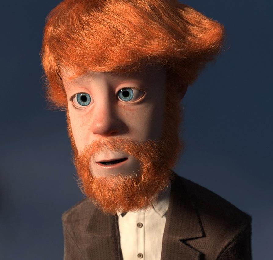 Victor's ginger man mane