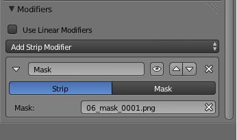 Mask modifier