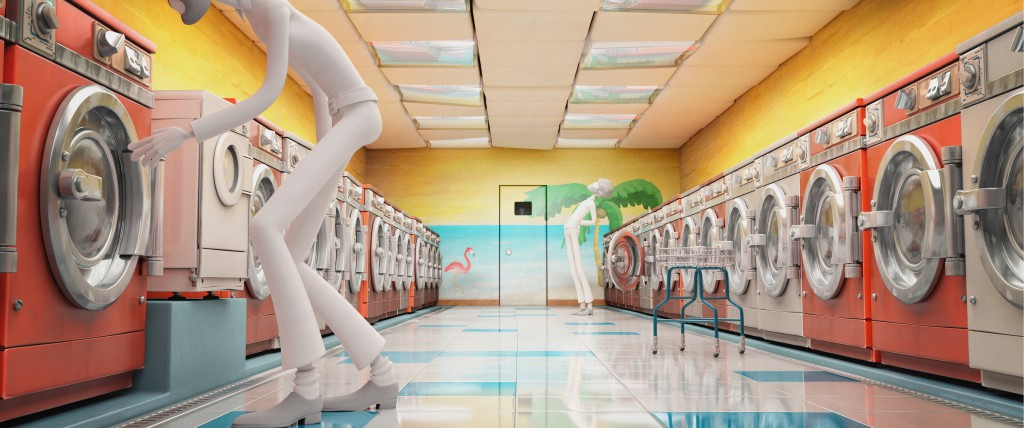 """The final setting of the pilot film, seen just briefly in the final shot, is Cosmos Laundromat himself. Here you get a glimpse of how Victor's """"magic"""" works, and the literal meaning behind his promise to Franck that his new lives will """"wash him clean."""""""