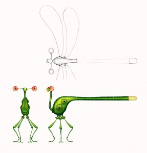Unlike Tara, Franck doesn't have wings...so, when he needs to hitch a ride, this dragonfly is how he does it.