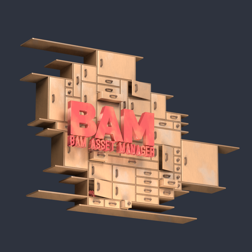 Manu has been working on a logo for BAM — this is not the final version, but you can see where he's going!