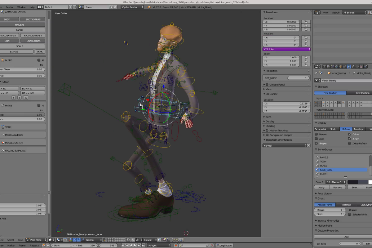 Victor's toon rigging allows you to distort pretty much EVERYTHING.