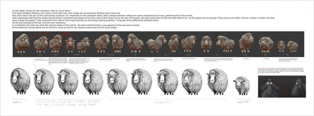 Sheep variations with feedback