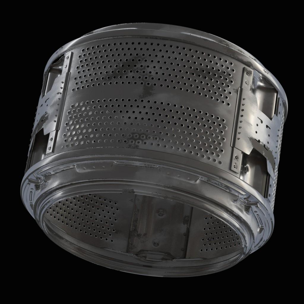 Worn-out washing machine drum